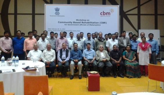 Delegates and resource persons who participated in the workshop organized by CBM India in partnership with Commissioner Office of Disability, Government of Maharashtra