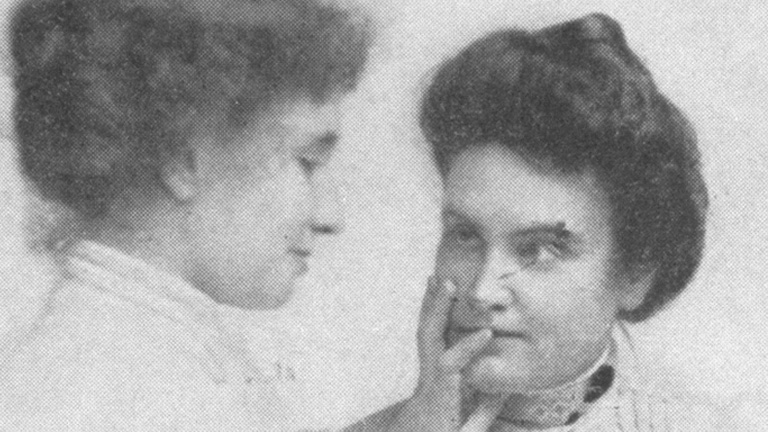 Helen Keller communicate with mother