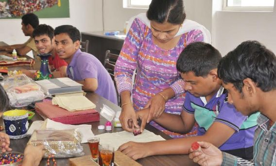 Eksang, a non govenment organisation gives vocational training to differently abled children
