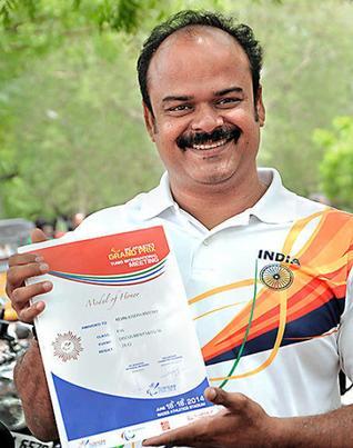 K.J. Antony take part in Para Asian games