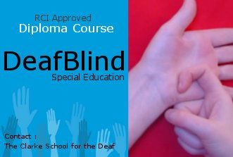 Diploma in Special Education - DeafBlind