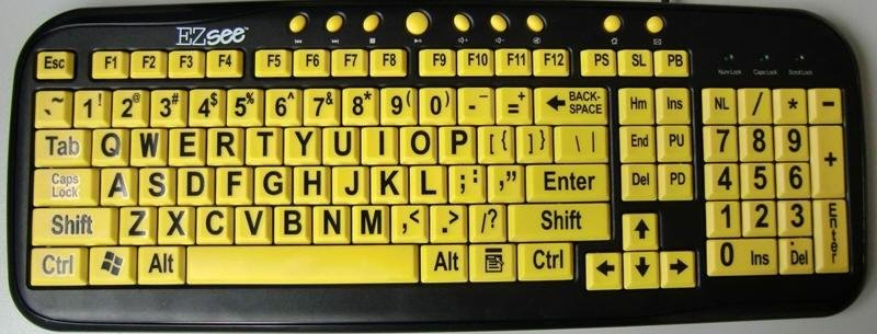EZSee - Large Print Keyboard