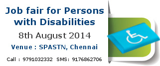 Job fair for persons with disabilities chennai 2014