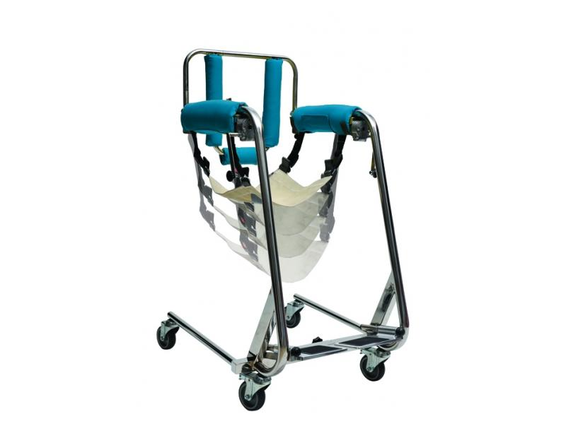 Specially designed stainless steel construction to lift and carry people and from a sitting position.