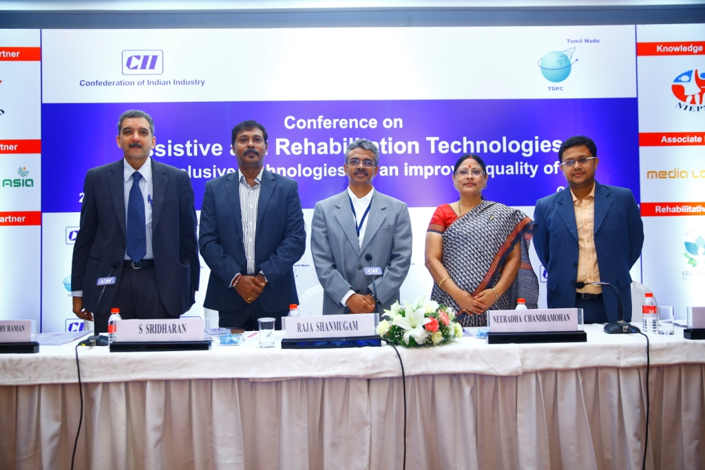 The 'Conference on Assistive and Rehabilitation Technologies' organized by Tamil Nadu Technology Development & Promotion Centre of CII held on 22nd August 2014 at Hotel Taj Connemara, Chennai, India, with the theme of Inclusive technologies for an improved quality of life.