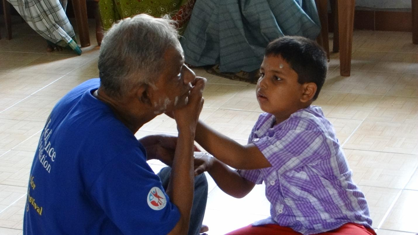 I create therefore I Am - Dr. Dr. Parasuram Ramamoorthi with children with autism