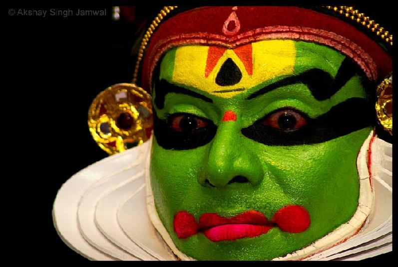 Therukoothu, Kathakali, yakshghana and in some ritualistic theatre forms like Ram Leela