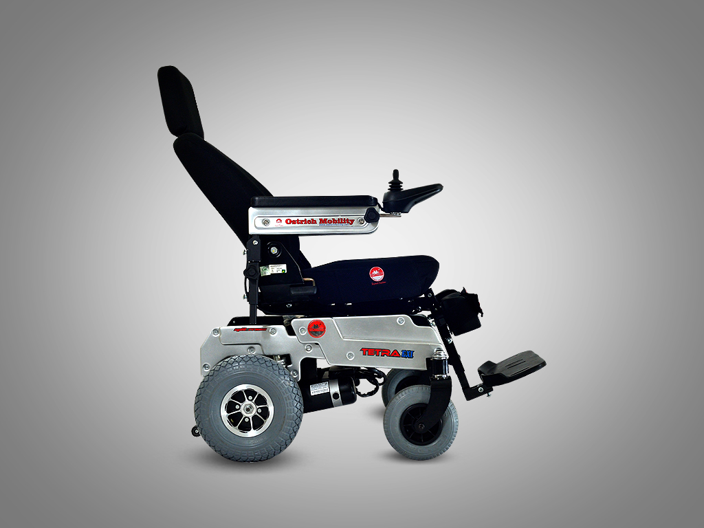 All Terrain powered wheelchair - Tetra EXi With world's first Split Frame Technology