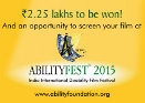 60 Seconds to Fame!  All India One Minute Film Competition on Disability