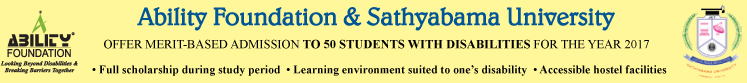 Merit Based Education for Students with disabilities with Full Scholarship banner
