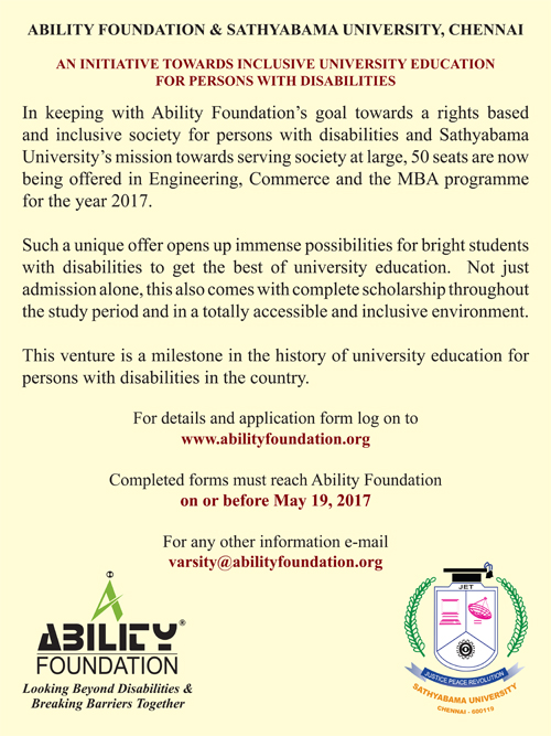 Merit based Education for students with disabilities