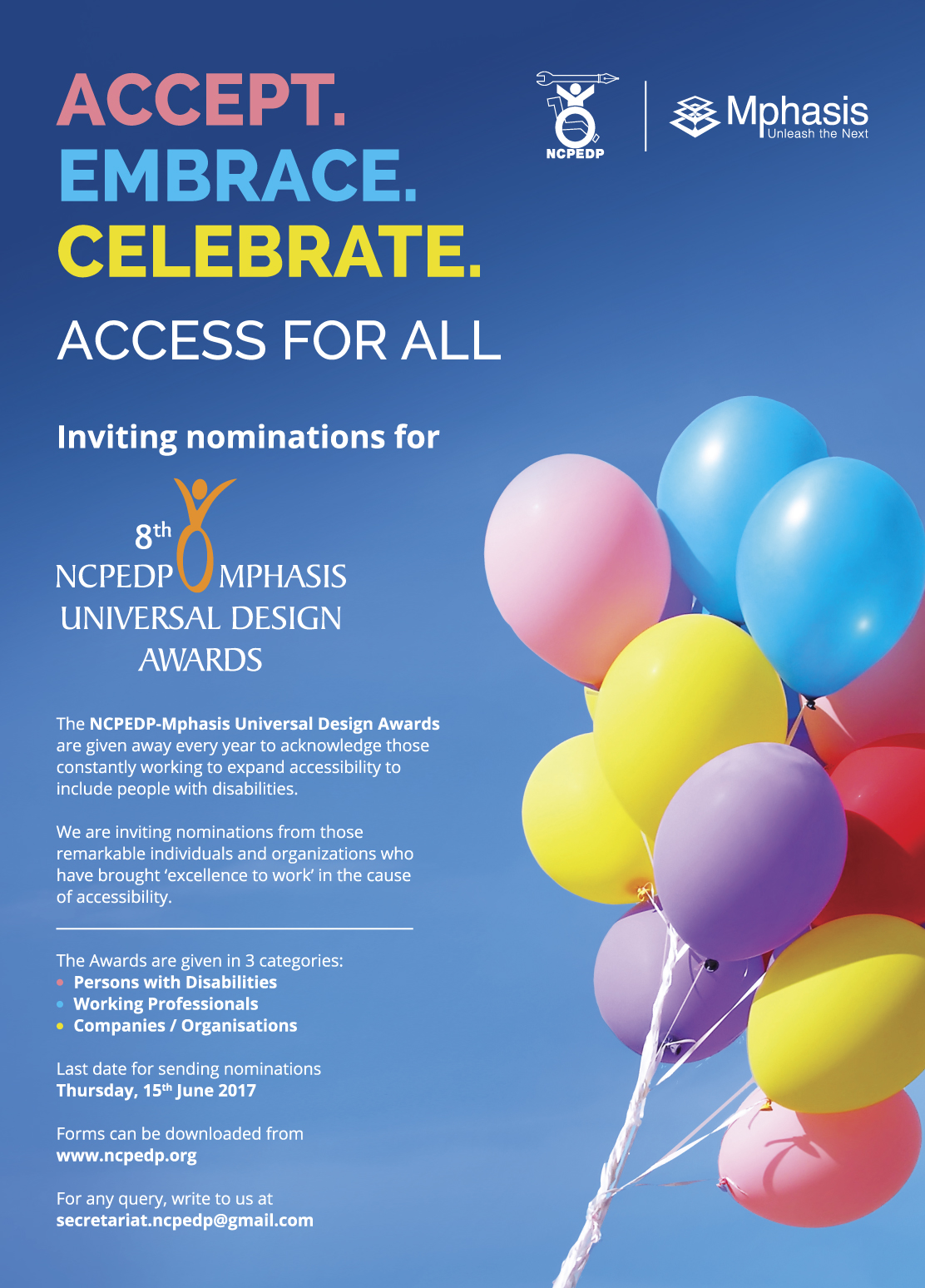 NCPEDP-Mphasis Universal Design Awards 2017