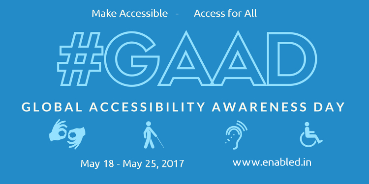 Global Accessibility Awareness Day (GAAD) : Access for All logo