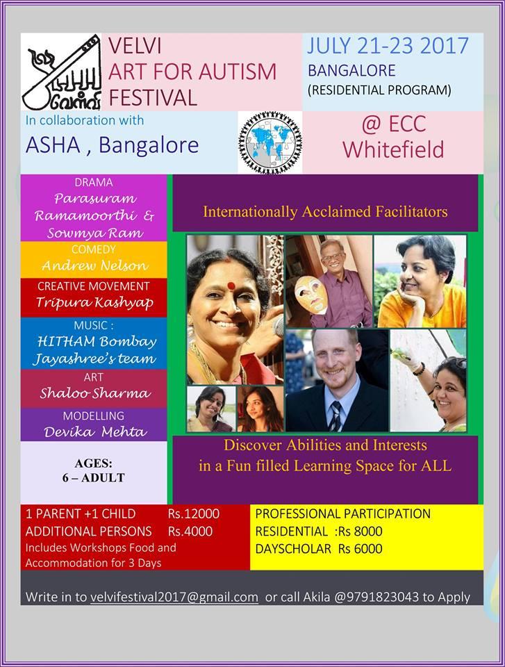 Velvi Art for Autism Festival at Bangalore