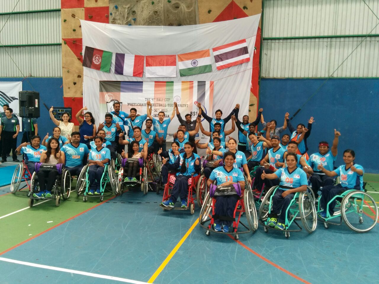Indian Wheelchair Basketball Team won the Bronze Medal