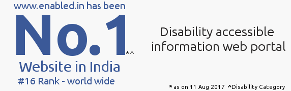 No 1 Website in india ( disability Category ) banner