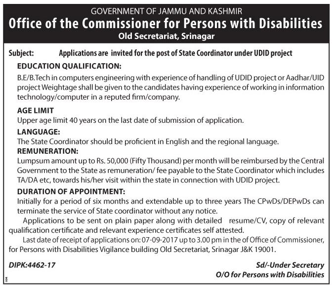 office of the commissioner for persons with disabilities