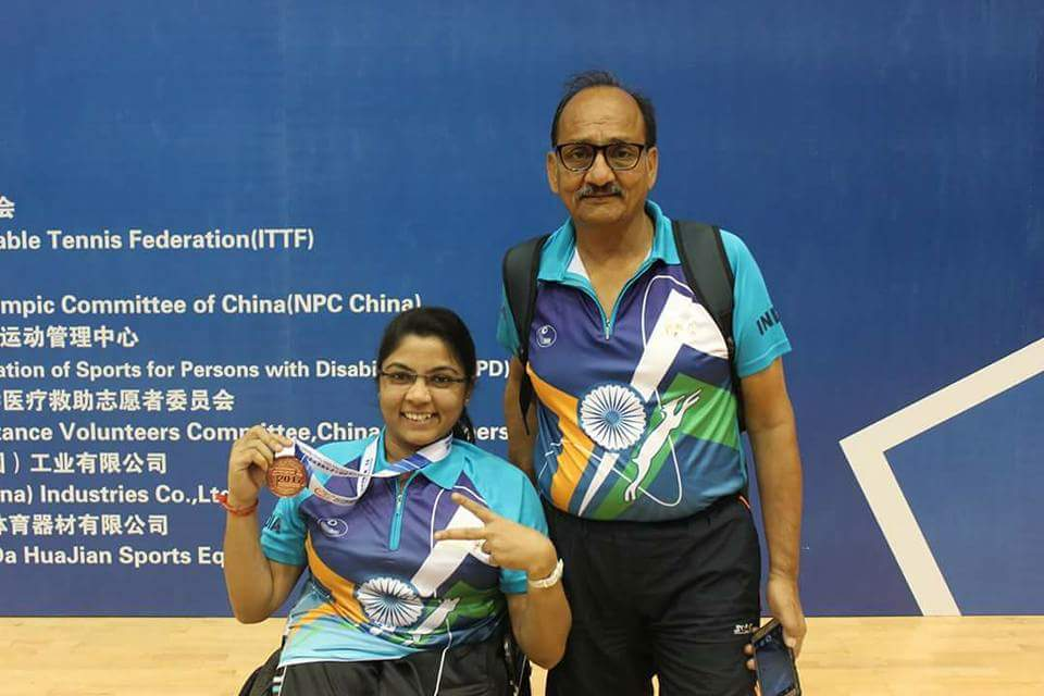 India won Bronze medal in Para Table Tennis Championship  2017