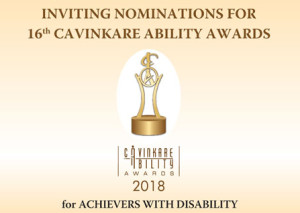 Nominations are invited for the 16 CavinKare Ability Awards 2018