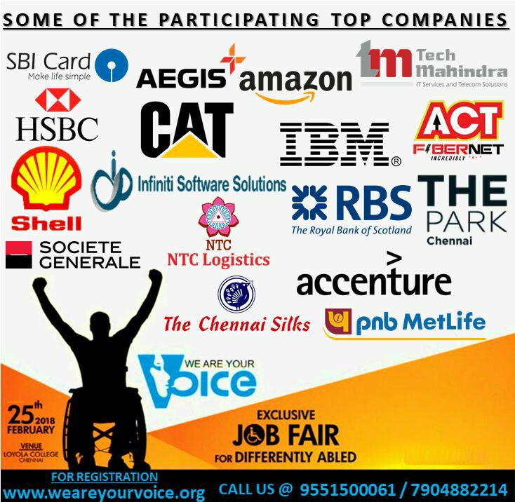 Job fair for Differently Abled @Loyola College, Chennai