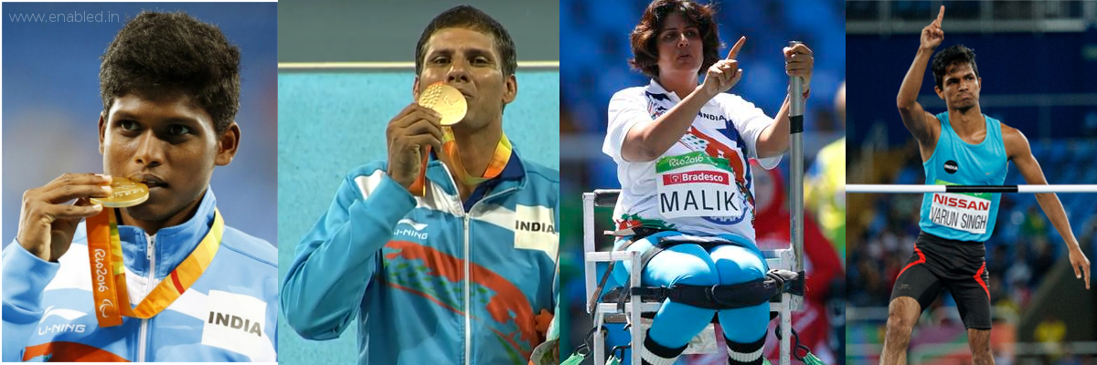 India's Rio Paralympics Medalist - enabled.in