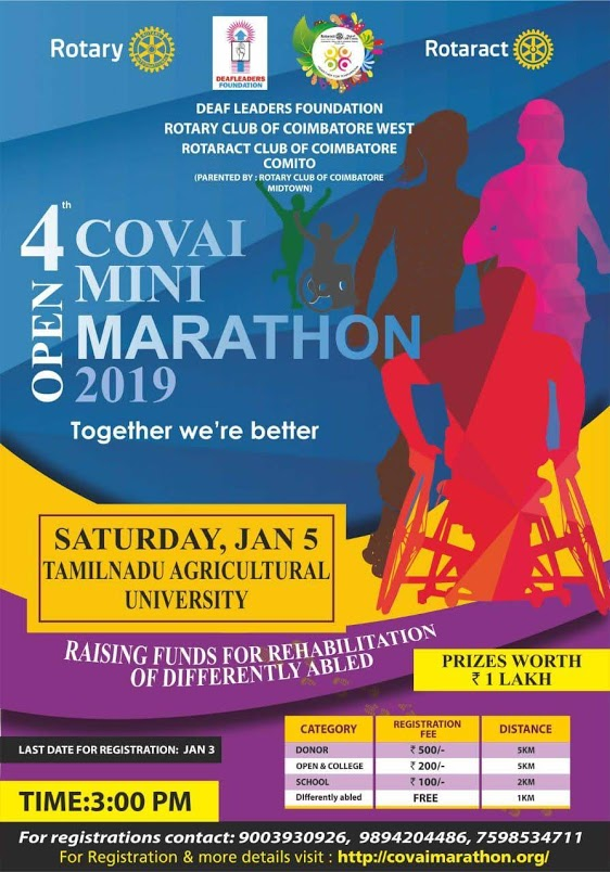 Covai Mini Marathon - Together we are better - enabled in