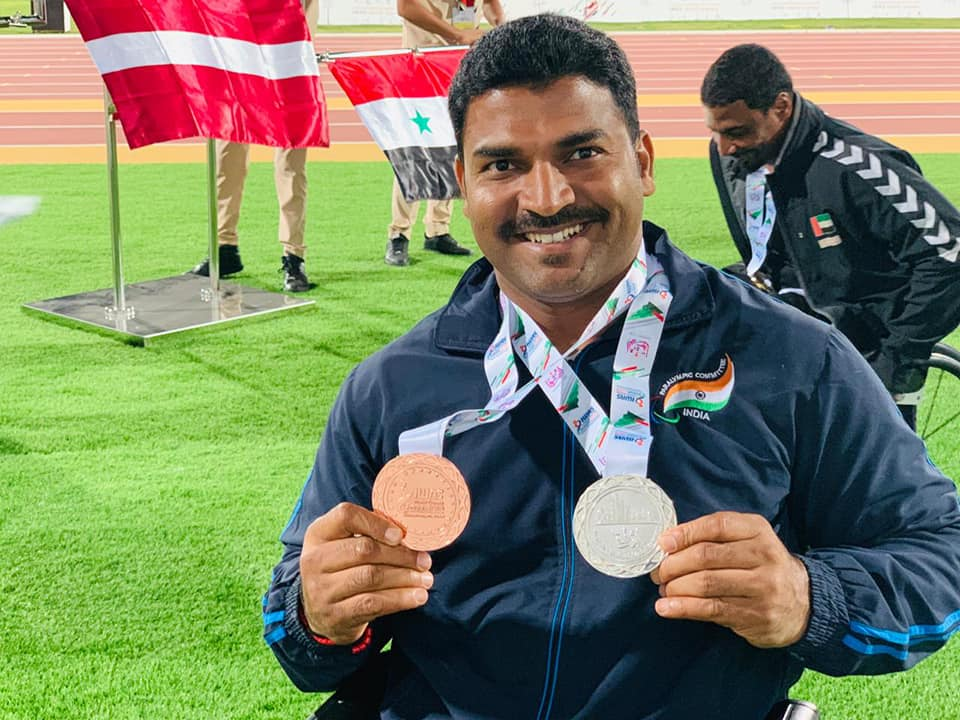 Sandesha won the Silver and Bronze medal – Paralympic IWAS 2019