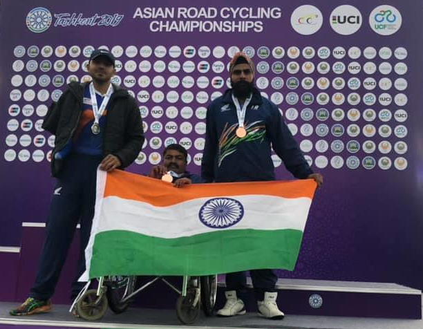 Asian Road para Cycling Championships - India won the 2 bronze and 1 Silver medal – 8th Asian Road para Cycling Championships
