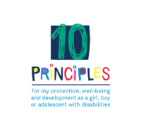 The 10 principles for my protection, well-being and development as a girl, boy or adolescent with disabilities