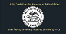 Loan facility to visually impaired by Housing Finance Companies