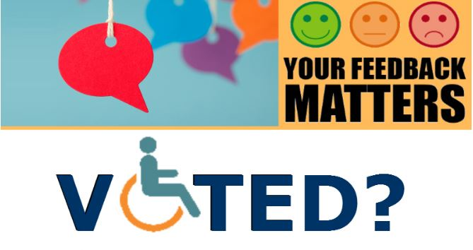 Election 2019 Disability feedback banner