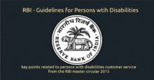 bank customer service disabilities - key points related to persons with disabilities customer service from the RBI master circular 2015