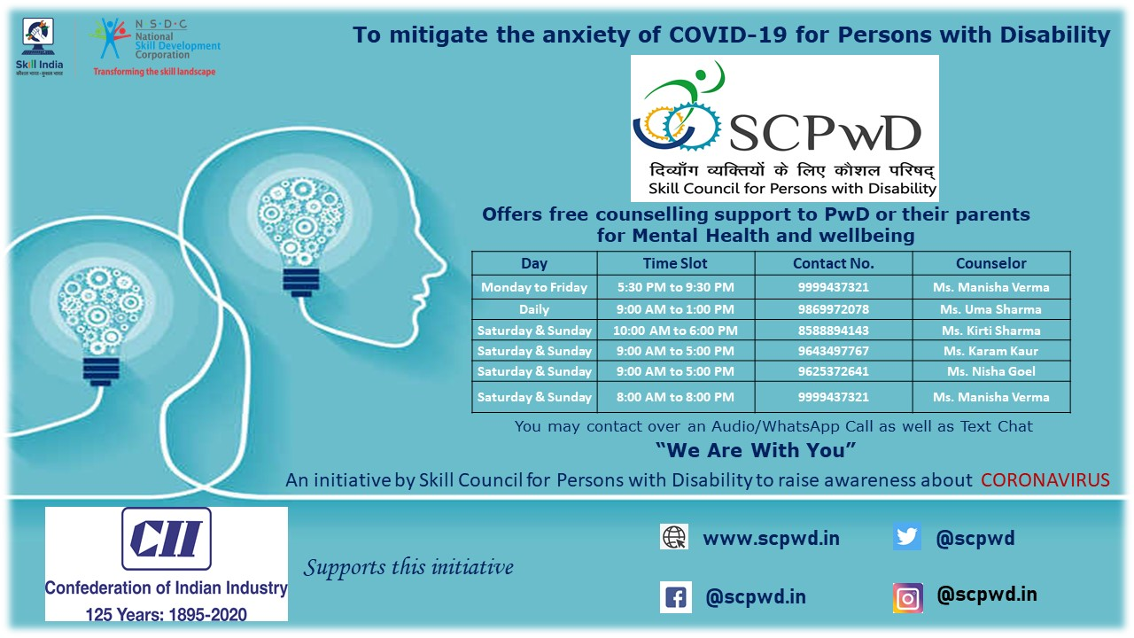 COVID-19 Free counselling support to Persons with ...